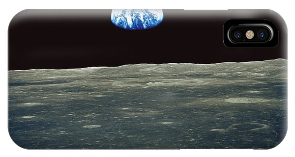Spaceflight iPhone Case - Earthrise Photographed From Apollo 11 Spacecraft by Nasa