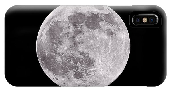 Full Moon iPhone Case - Earth's Moon by Steve Gadomski
