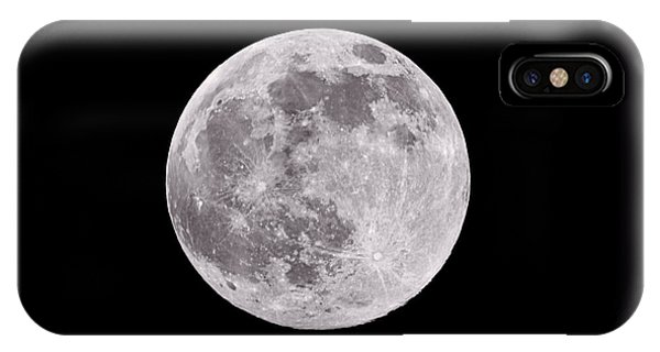 Moon iPhone Case - Earth's Moon by Steve Gadomski