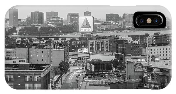East Cambrdige Boston Skyline Aerial Citgo Sign Photo IPhone Case