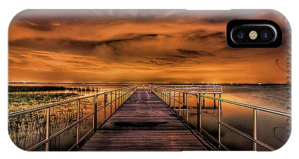 East Lake Pier Topaz IPhone Case