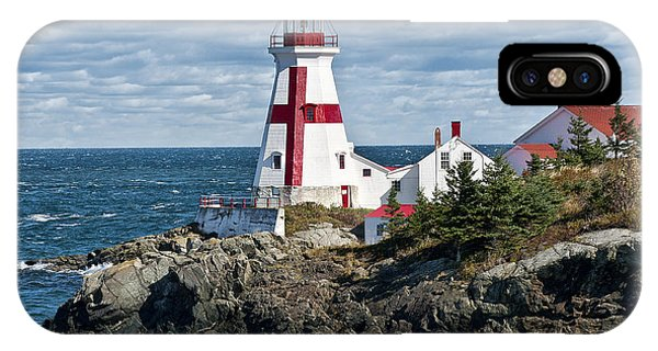 Navigation iPhone Case - East Quoddy Lighthouse by John Greim