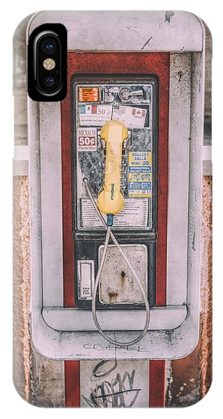 Chrome iPhone Case - East Side Pay Phone by Scott Norris