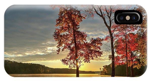 East Texas Autumn Sunrise At The Lake IPhone Case