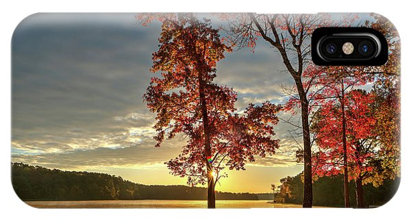 East Texas Autumn Sunrise At The Lake IPhone Case