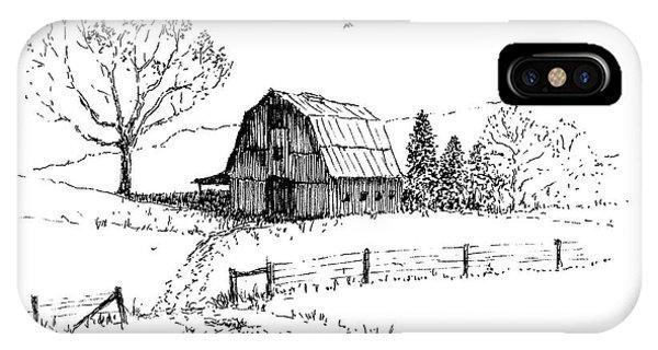 East Texas Hay Barn IPhone Case