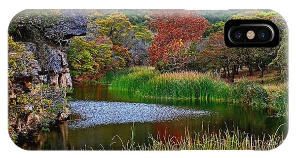East Trail Pond At Lost Maples IPhone Case