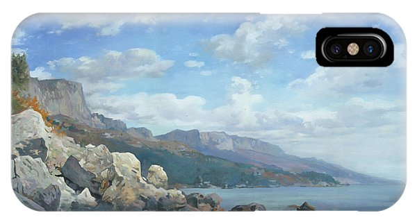 iPhone Case - East View. A Seascape In The Vicinity Of Foros Mmxi by Denis Chernov