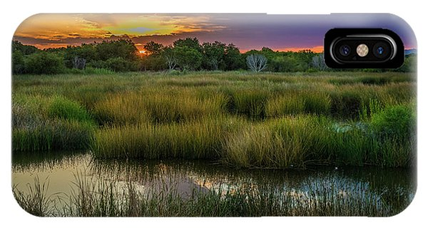 East Wetlands Sunrise IPhone Case