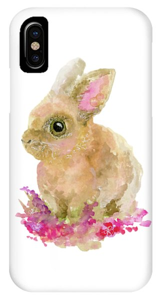 IPhone Case featuring the painting Easter Bunny by Lauren Heller