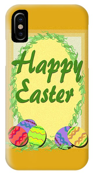 iPhone Case - Easter Egg Card by Michelle Audas