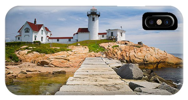 Nubble Light iPhone X Case - Eastern Point Lighthouse by Emmanuel Panagiotakis