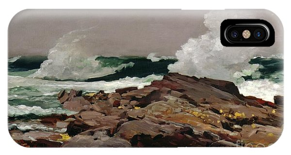 Sea iPhone X Case - Eastern Point by Winslow Homer