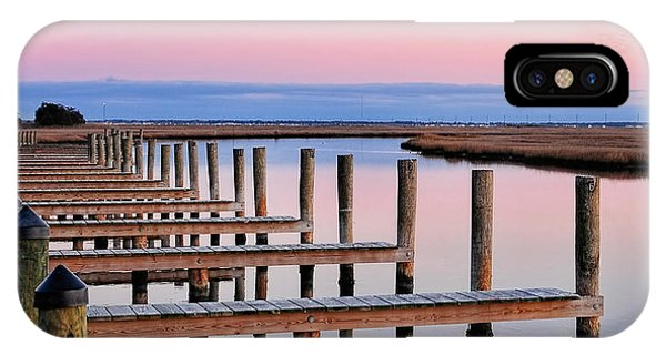 Tidal Marsh iPhone Case - Eastern Shore On The Docks by Lara Ellis