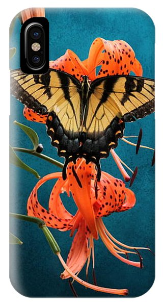 Eastern Tiger Swallowtail Butterfly On Orange Tiger Lily IPhone Case