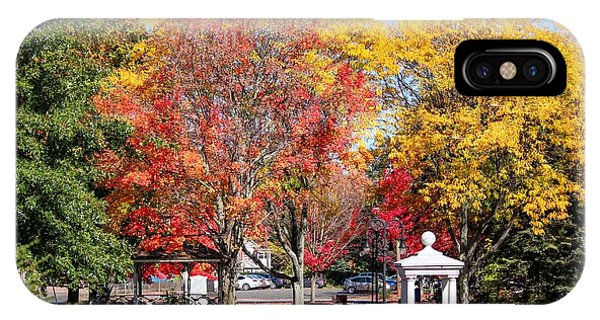 IPhone Case featuring the photograph Easthampton Center In The Fall by Sven Kielhorn