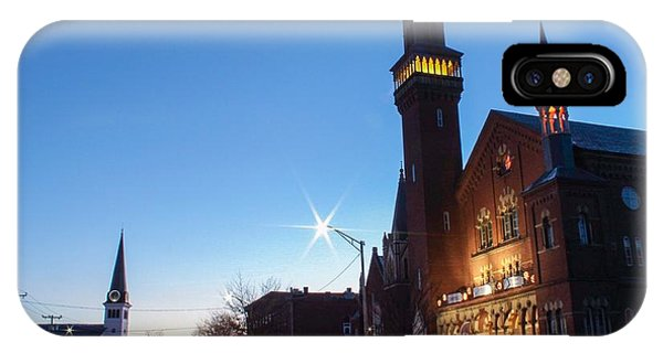 IPhone Case featuring the photograph Easthampton Crescent Moon by Sven Kielhorn
