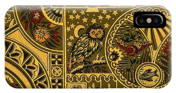 Eastlake Gilt Victorian Tapestry With Owl IPhone Case