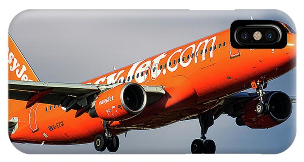 Jet iPhone X / XS Case - Easyjet 200th Airbus Livery Airbus A320-214 by Smart Aviation
