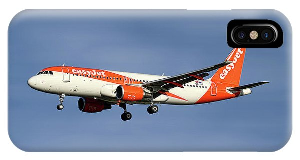 Jet iPhone X / XS Case - Easyjet Airbus A320-214 by Smart Aviation