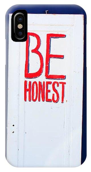 Eat Drink Be Honest IPhone Case