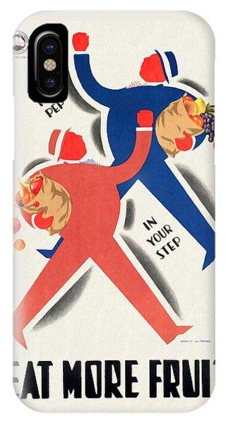 Eat More Fruit - Vintage Poster Restored IPhone Case