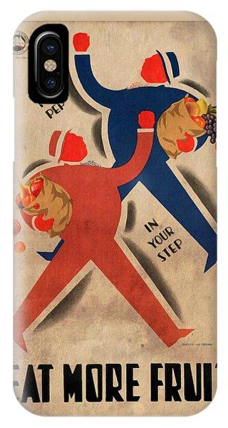 Eat More Fruit - Vintage Poster Vintagelized IPhone Case