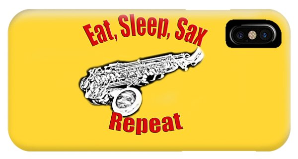 Eat Sleep Sax Repeat IPhone Case