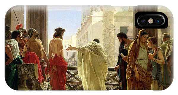 Life Of Christ iPhone Case - Ecce Homo by Antonio Ciseri