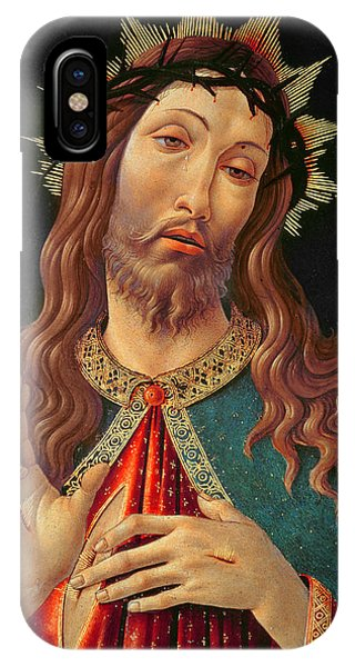 Botticelli iPhone Case - Ecce Homo Or The Redeemer by Botticelli