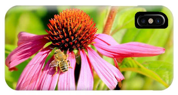 Echinacea Bee IPhone Case