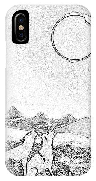 Eclipcse Graphic Pen Outline IPhone Case