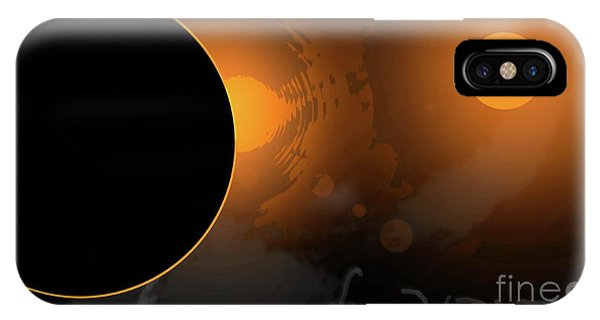 Eclipse Of 2017 W IPhone Case