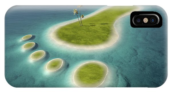Conservation iPhone Case - Eco Footprint Shaped Island by Johan Swanepoel