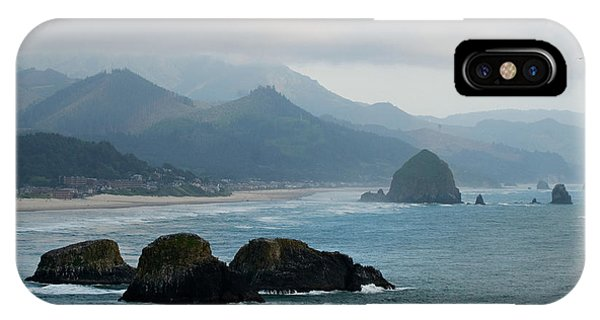 Ecola State Park View Of Haystack Rock And 3 Arch Rocks IPhone Case