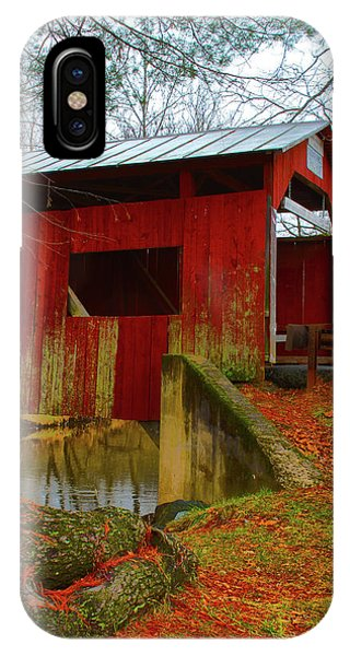 Ecther Covered Bridge Near Catawissa, Pa IPhone Case
