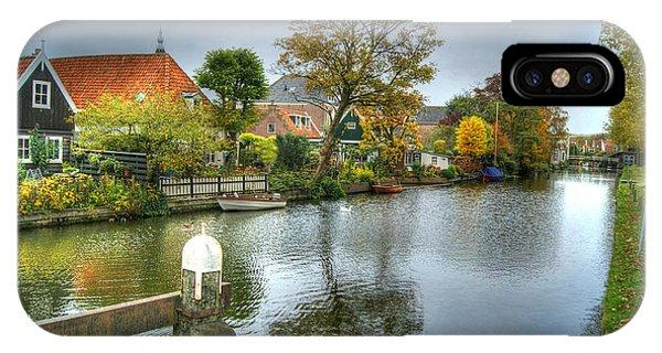 Edam Waterway In Holland IPhone Case