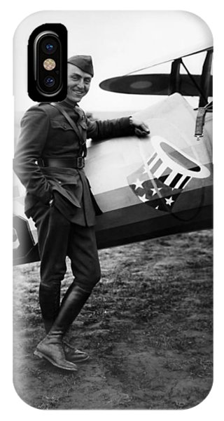 Airplane iPhone Case - Eddie Rickenbacker - Ww1 American Air Ace by War Is Hell Store
