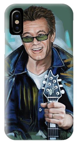 Van Halen iPhone Case - Eddie Van Halen by Melanie D