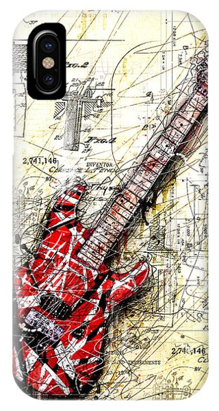 Guitar iPhone Case - Eddie's Guitar 3 by Gary Bodnar