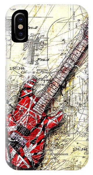 Guitar iPhone Case - Eddie's Guitar 3 by Gary Bodnar