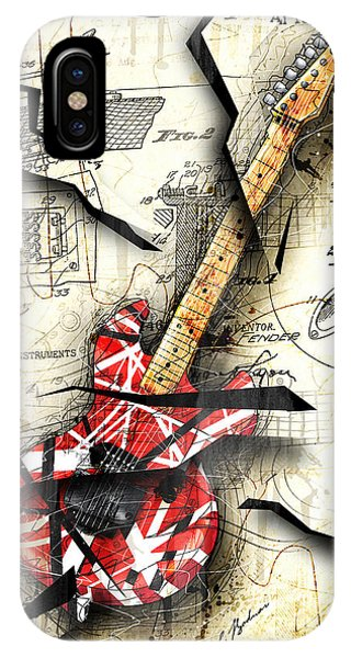 Abstract iPhone X Case - Eddie's Guitar by Gary Bodnar