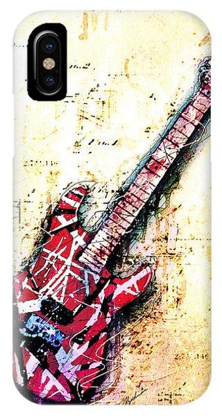 Van Halen iPhone Case - Eddie's Guitar Variation 07 by Gary Bodnar