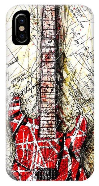 Van Halen iPhone Case - Eddie's Guitar Vert 1a by Gary Bodnar
