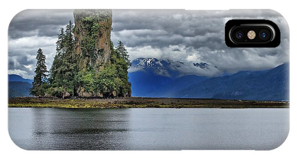 Eddystone Rock In Misty Fjords National Monument IPhone Case