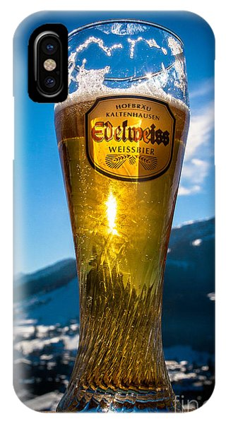 Edelweiss Beer In Kirchberg Austria IPhone Case