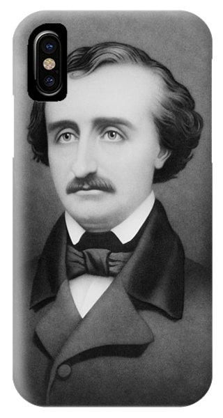 Raven iPhone Case - Edgar Allan Poe Portrait by War Is Hell Store
