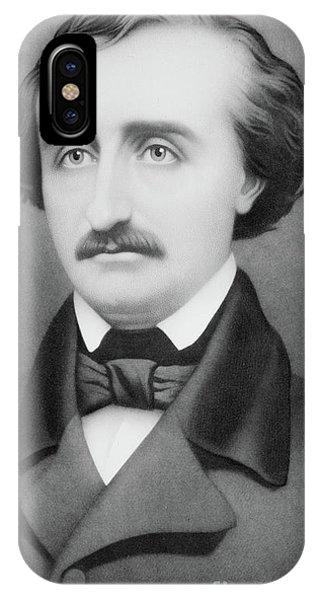Raven iPhone Case - Edgar Allan Poe by William Sartain