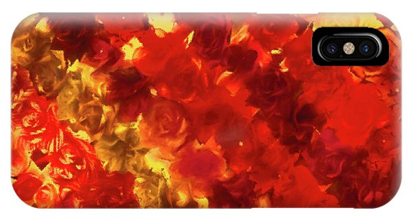 Edgy Flowers Through Glass IPhone Case