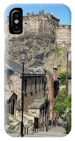 IPhone Case featuring the photograph Edinburgh Castle From The Vennel by Jeremy Lavender Photography